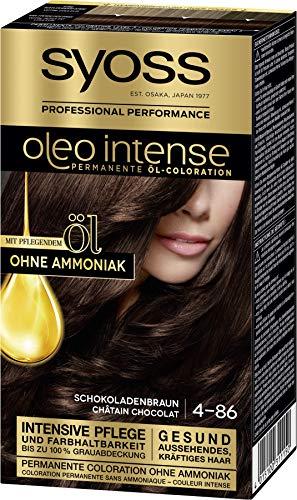 SYOSS Oleo Intense Permanente Öl-Coloration, Haarfarbe 4-86...