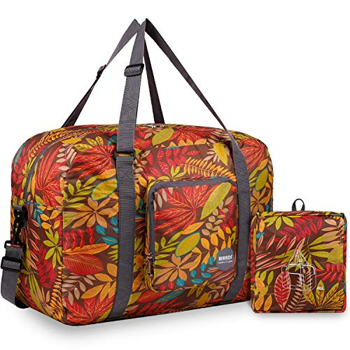 WANDF Leichter Faltbare Reise-Gepäck Handgepä (A - Kaffeeblatt)