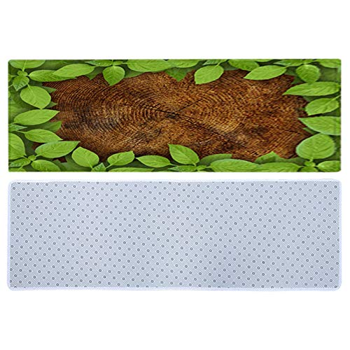 Green Leaf Mat rutschfeste Green Leaf Teppich dekorative Bodenmatte...