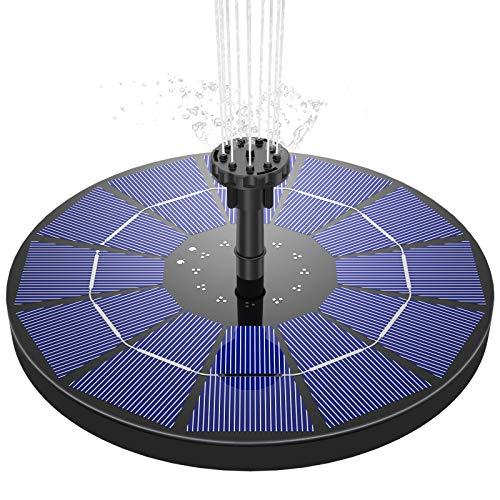 AISITIN Solar Springbrunnen 3.5W Solar Teichpumpe mit 180mm...