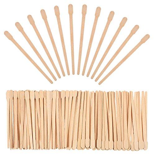500 Packung Wachs Spatel Holz Handwerk Sticks Kleine für...