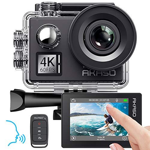 AKASO Action cam 4K/60fps /Action Kamera 20MP WiFi mit Touchscreen EIS...