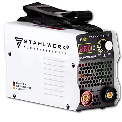 STAHLWERK ARC 200 MD IGBT - Schweißgerät DC MMA/E-Hand Welder mit...