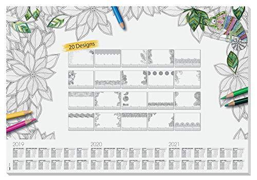 SIGEL HO540 Papier-Schreibunterlage, ca. DIN A2 - extra groß, mit 20...