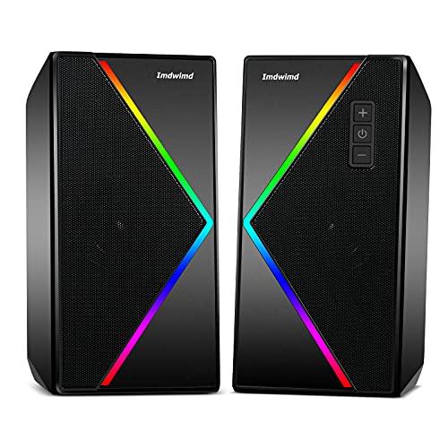 PC Lautsprecher Imdwimd USB Desktop Computer Gaming RGB Lautsprecher...