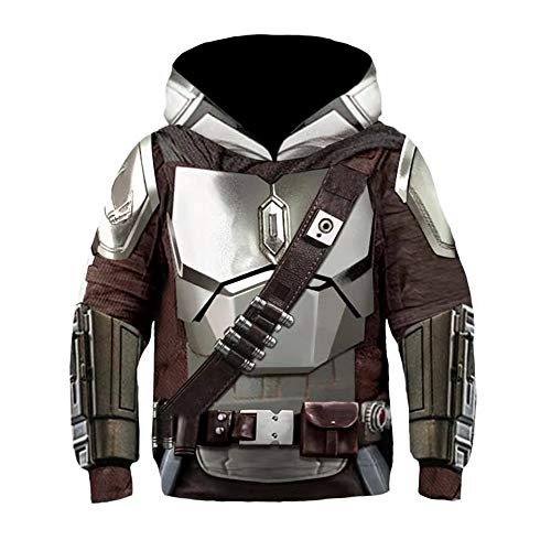 Mandalorian Hoodie SW Film Cosplay Kostüm Zubehör 3D-Druck Unisex...