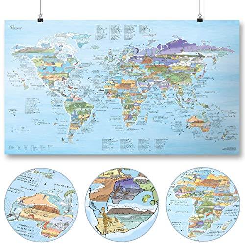 Kitesurf Weltkarte   AWESOME MAPS   Entdecke die 300 beliebtesten Surf...