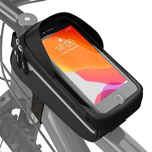 Velmia Fahrrad Rahmentasche Wasserdicht - Fahrrad Handyhalterung ideal...