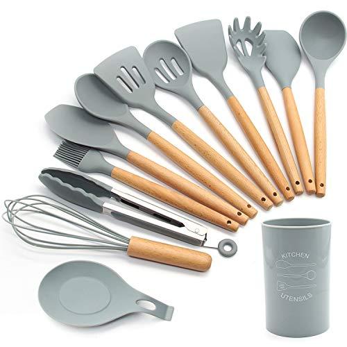 FXY Kochbesteck 13er Küchenutensilien silikon, Antihaftes...