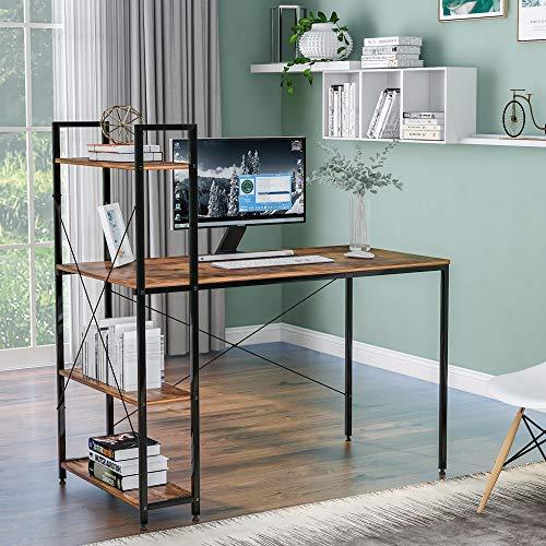 Computertisch mit 4 Ablagen – Studenten-Schreibtisch mit...