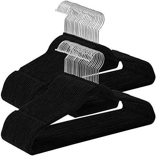SONGMICS Kleiderbügel, 50 Stück, je 0,6 cm dick, Anzugbügel mit...
