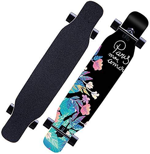 Longboard 118CM Pro Skateboard, Cruiser Trick Skateboard, Komplettes...