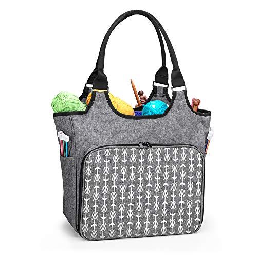 Yarwo Stricktasche zur Aufbewahrung von Wolle, Tasche für Wolle,...
