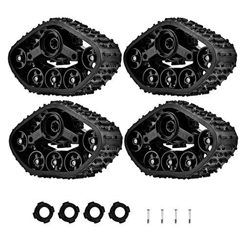 RC LKW-Reifen, 4 Stücke Spur Rad Reifen Crawler Reifen Zubehör Teile...
