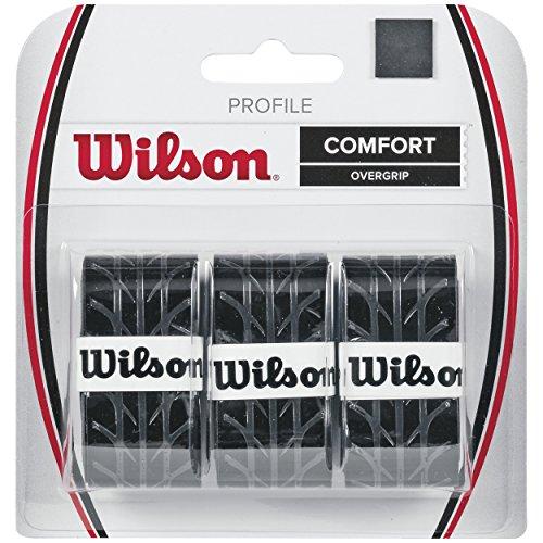 Wilson Overgrip Griffband, Profile Overgrip, 3 Stück, schwarz,...