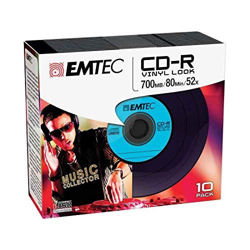 Emtec CD-R Vinyl Look CD-R 700MB 10Stück(E) - CD-Rohlinge (CD-R, 700...