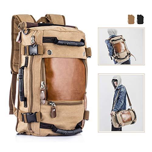 Overmont Vintage Herren Rucksack Multifunktionale Tasche für Reise...