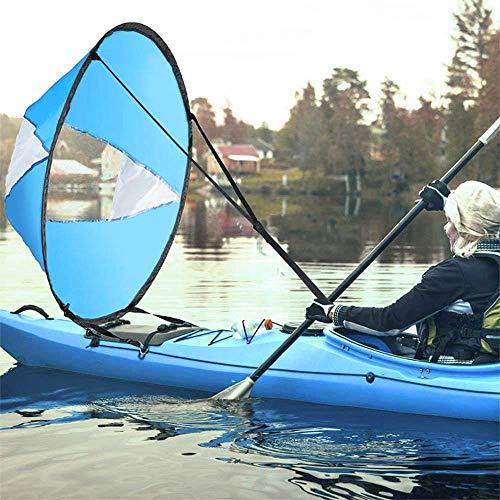 AZXAZ Groß 42'Kajak Windsegel Paddel Tragbar Kanus Popup Downwind...