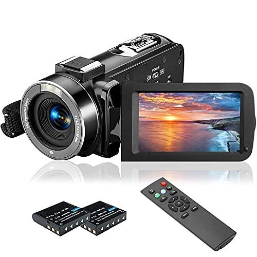 Videokamera Camcorder, MELCAM 1080P 30FPS Vlogging Kamera für...