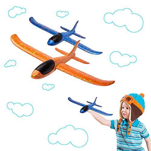 BeYumi 2pcs Flugzeug,Flugzeugspielzeug, manuelles Wurfspiel, Spaß,...