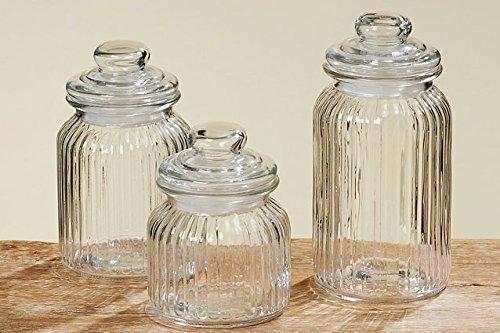 Tamia-Home 3er Universale Vorratsdose Glasdose Vorratsglas H15/19/23cm...