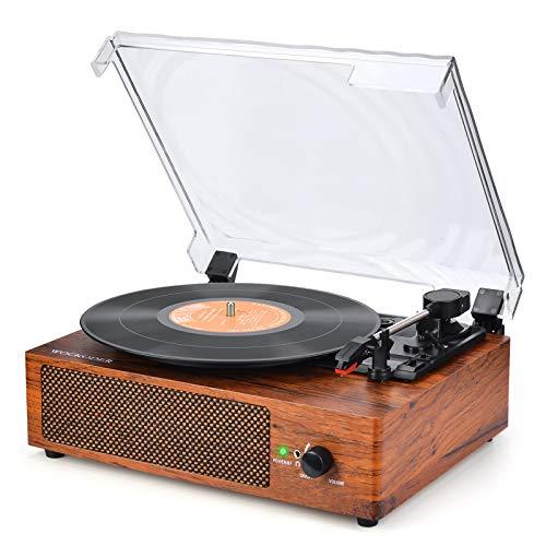 Plattenspieler mit Lautsprecher Plattenspieler Bluetooth Retro...