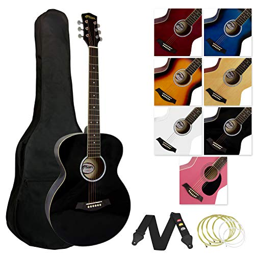 Tiger ACG2-BK Elektro-Akustische Gitarre Set - Schwarz