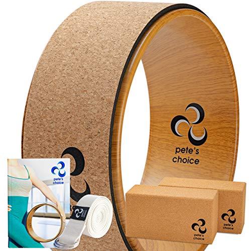 Yoga Rad Holz und Yoga Blocks aus Kork mit Zusätzlichem eBook und...