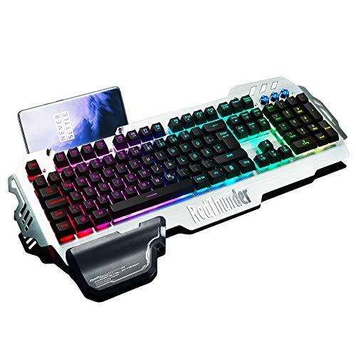 RedThunder K900 Halbmechanisch Gaming Tastatur [Version 2021], QWERTZ...