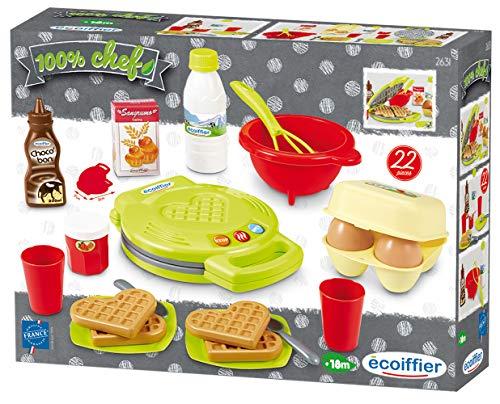 Ecoiffier – Waffeleisen für Kinder – 22-teiliges Backset mit...