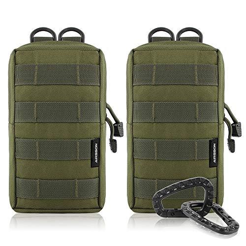 Airsson 2-Stück Molle Taschen Tactical Beutel Pouches Satteltaschen...