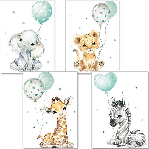 artpin® Poster Kinderzimmer - Bilder Babyzimmer Deko, Junge Mädchen...
