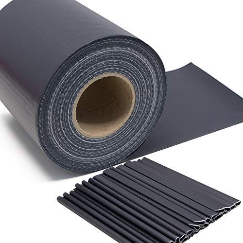 Stabmattenzaun Sichtschutz-Streifen, PVC Folie in Grau - anthrazit,...
