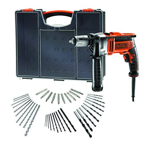 Black + Decker Schlagbohrmaschine KR806OA-QS, wendbar, 850 W, mit...