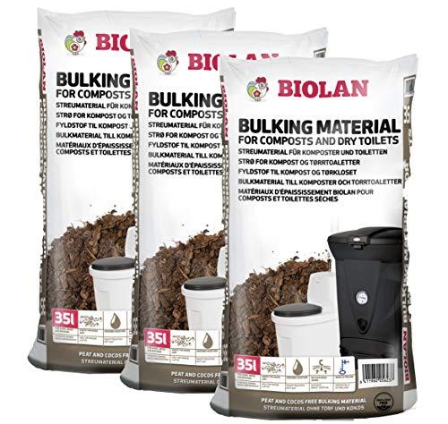 Biolan Streumaterial für Kompostierer und Trockentoiletten 35 L. Set...