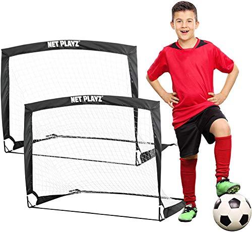 NET PLAYZ - 2er Set faltbar Tor - Fußball-Tor Pop Up - Fussballtor...