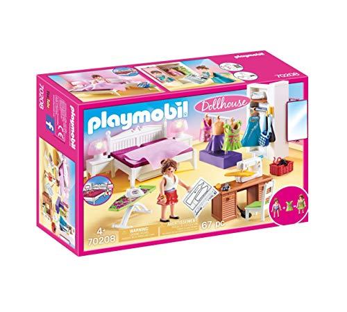 Playmobil Dollhouse 70208 Schlafzimmer und Nähstudio, mit...