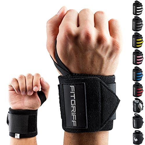 Fitgriff® Handgelenk Bandagen [Wrist Wraps] 45cm Handgelenkbandage...