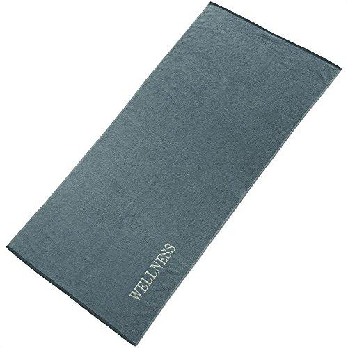aqua-textil Wellness Saunatuch 80 x 200 cm Uni grau Baumwolle Frottee...