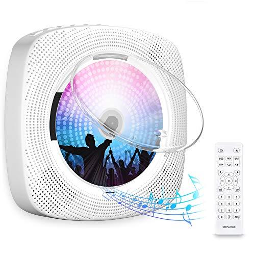 Gueray CD-Player für Wandmontage mit Bluetooth HiFi Lautsprecher...