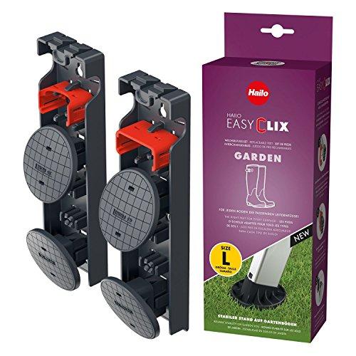 Hailo EasyClix Garden Size L, Wechselfuß-Set für Hailo Stehleitern,...