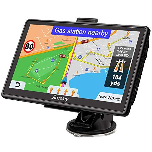 Jimwey Navigationsgerät für Auto Navi LKW Navigation 7 Zoll 16GB...