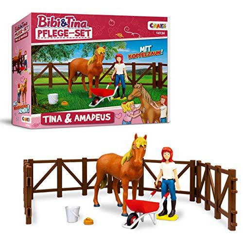 Craze Pflege Bibi BIBI & Tina Spielfiguren Set Pferde Pflegeset Tina...