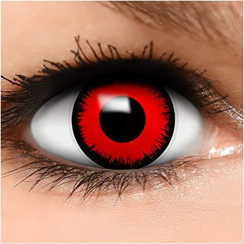 Farbige Kontaktlinsen Volturi Vampir in rot + Behälter - Top...
