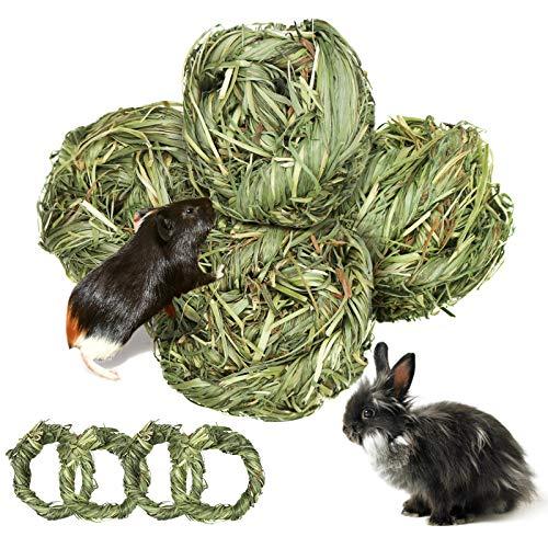 8 Stück Kleintiere Kauspielzeug, Natürlicher Timothy-Gras Kauball,...