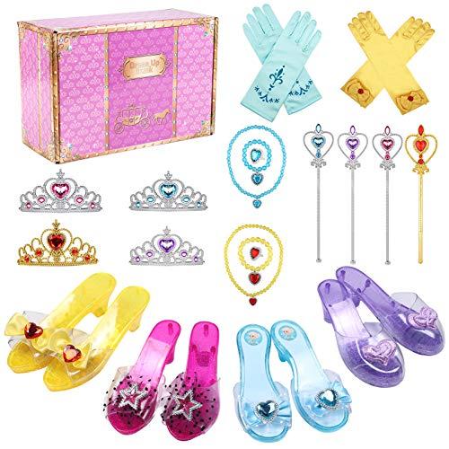 Tacobear Prinzessin Kostüm Zubehör Prinzessin Schuhe Mädchen mit...
