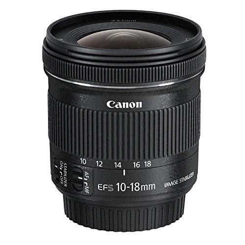 Canon Zoomobjektiv EF-S 10-18mm F4.5-5.6 IS STM Ultra Weitwinkel für...