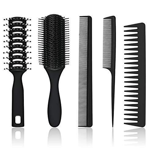 5 Stücke Haarkamm und Bürsten Set Paddel Haarbürste Entwirrende...