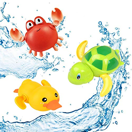 SeWooo 3 Pack Baby Badespielzeug,Wasserspielzeug Kinder...