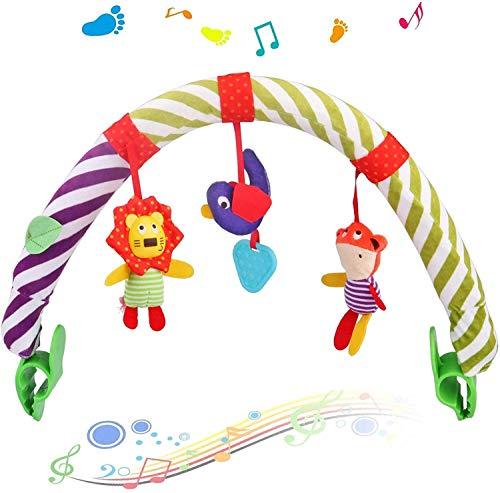 Baby Bogen Spielzeug, Kinderwagen-Spielbogen mit Rassel-Spielzeug,...